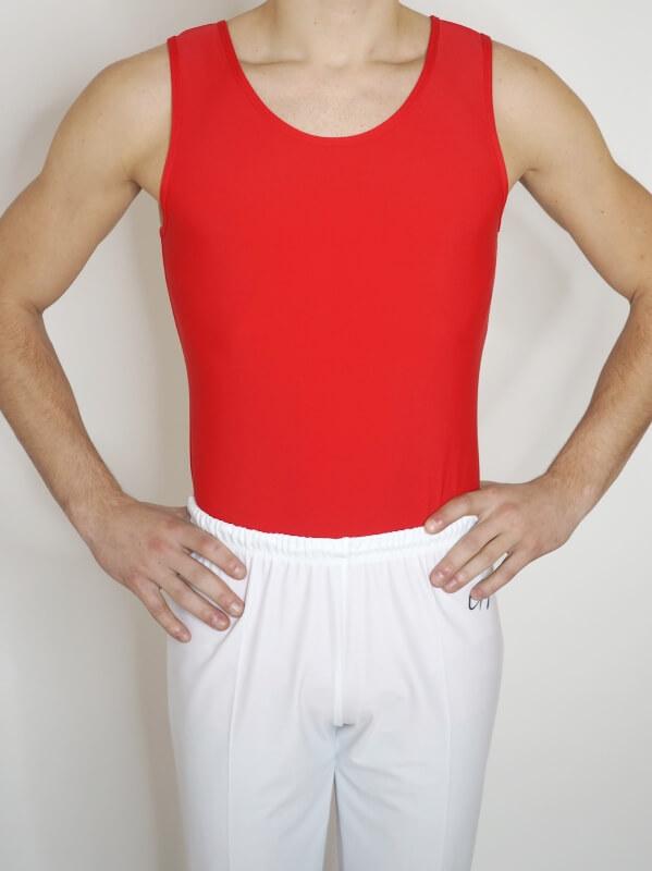 Gymnastický dres pro kluky červené barvy od Gymot