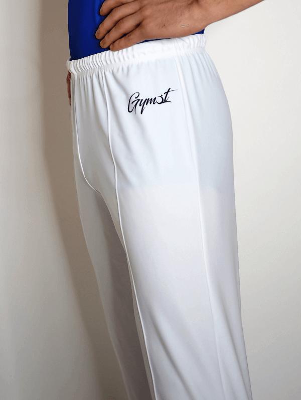 Pánské gymnastické šponovky bílé barvy strana